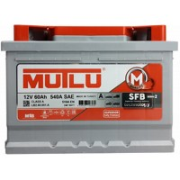Автомобильный аккумулятор Mutlu низкий 6СТ-60 R+ Series 2