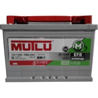 Автомобильный аккумулятор Mutlu 6СТ-72 R+ EFB +Start Stop