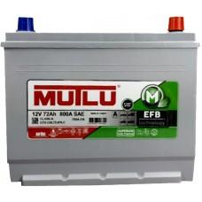 Автомобильный аккумулятор Mutlu 6СТ-72 R+ Jis EFB +Start Stop