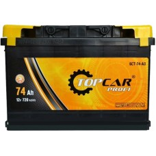 Автомобильный аккумулятор Top Car 6СТ-74 L+ Profi
