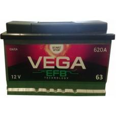 Автомобильный аккумулятор Vega 6СТ-63 R+ EFB Start/Stop