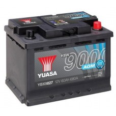 Автомобильный аккумулятор Yuasa 6СТ-60 R+ AGM Start Stop
