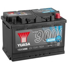 Автомобильный аккумулятор Yuasa 6СТ-70 R+ AGM Start Stop