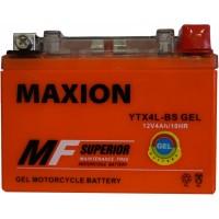 Мото аккумулятор Maxion YTX4L-BS Gel