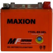 Мото аккумулятор Maxion YTX5L-BS Gel