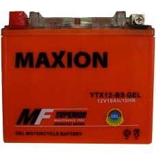 Мото аккумулятор Maxion YTX12-BS Gel