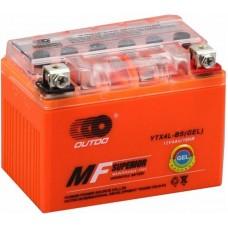 Мото аккумулятор Outdo YTX4L-BS Gel