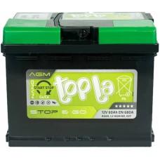 Автомобильный аккумулятор Topla 6СТ-60 R+ Top AGM Stop & Go