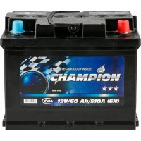 Автомобильный аккумулятор Champion 6СТ-60 R+ Black