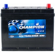 Автомобильный аккумулятор Champion 6СТ-70 R+ Jis Black
