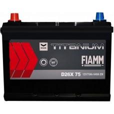 Автомобильный аккумулятор Fiamm 6СТ-75 L+ asia Titanium PRO Black