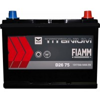 Автомобильный аккумулятор Fiamm 6СТ-75 R+ asia Titanium PRO Black
